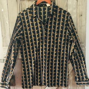 Tops - Vintage Polyester Blouse